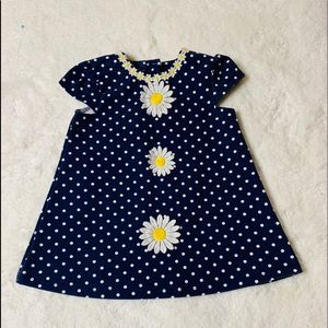 Little Me Blue Dress Polka Dots & Daisy's Size 18M